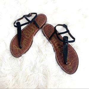 3/$25 Sam Edelman Gigi Black T-Strap Sandals